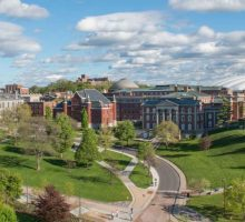 Syracuse University Campus aerial view