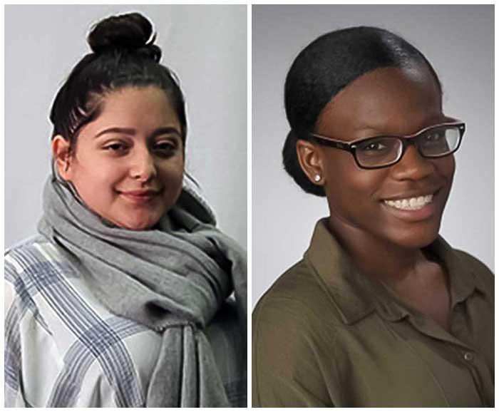 Portraits of Marceli Rocha-Rocha and Briyana Henry