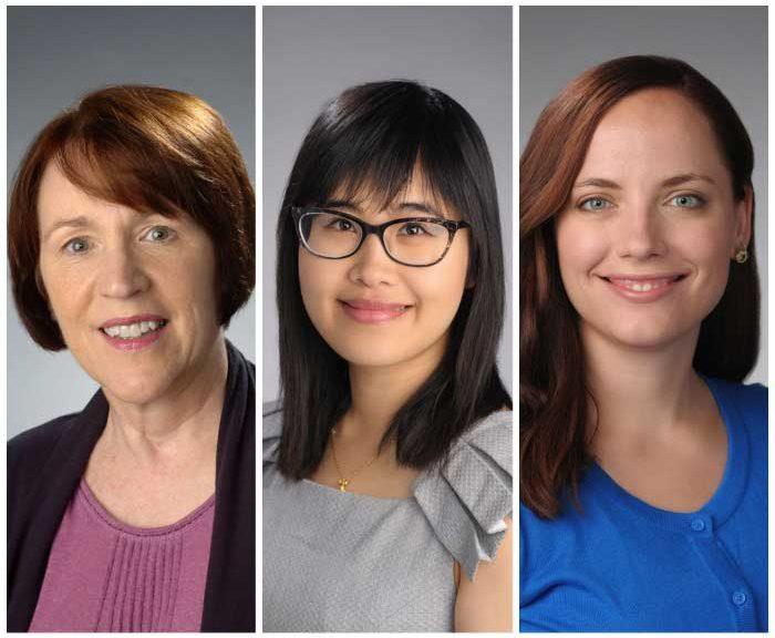 Three portraits of award winners