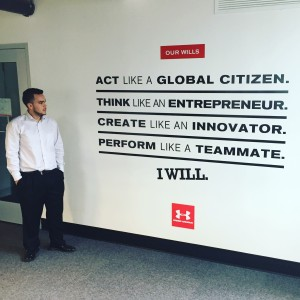 Anthony Mejia at Under Armour offices