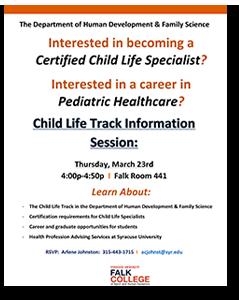 Child Life Track Information System @ Falk Room 441 | Syracuse | New York | United States