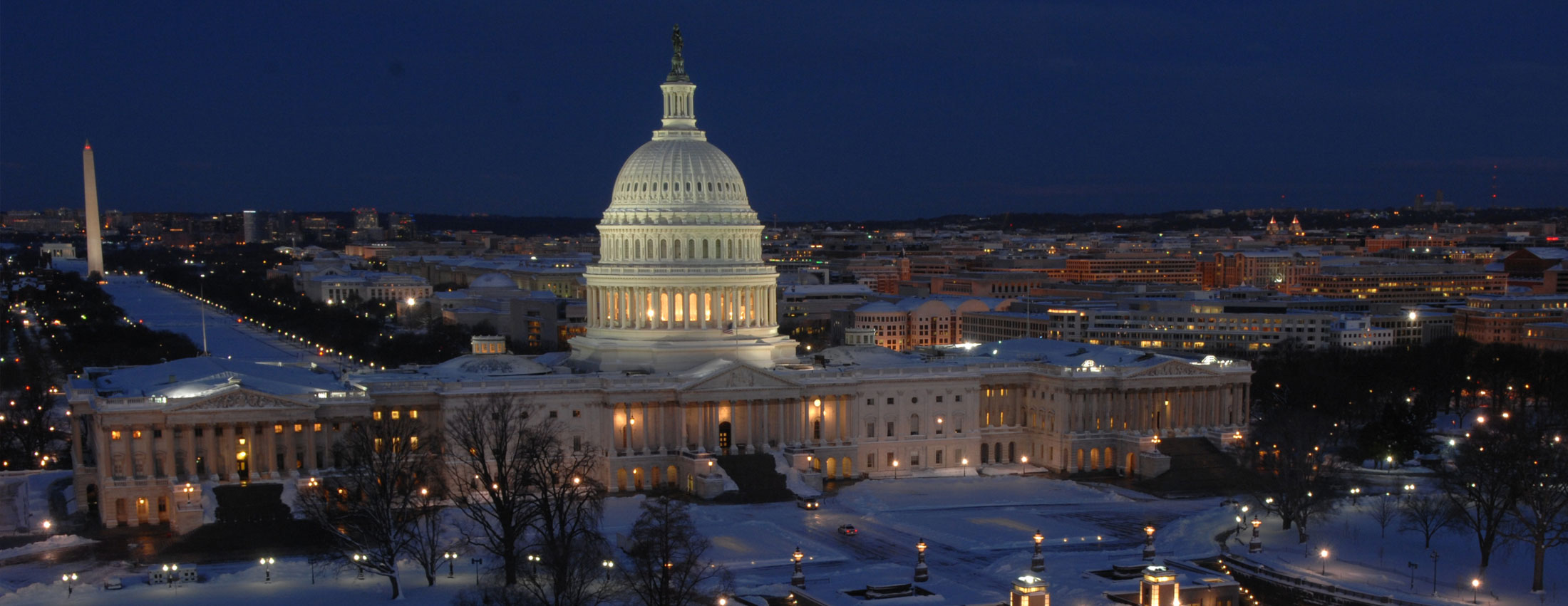 Image of Capital Building at night