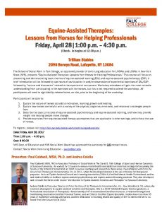 Equine-Assisted Therapies: Lessons from Horses for Helping Professionals @ Trillium Stables | LaFayette | New York | United States