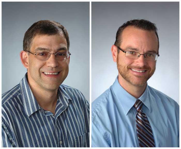 Portraits of Brooks Gump and Kevin Heffernan