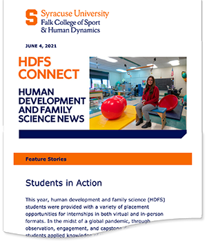 A snapshot of the latest HDFS Connect newsletter