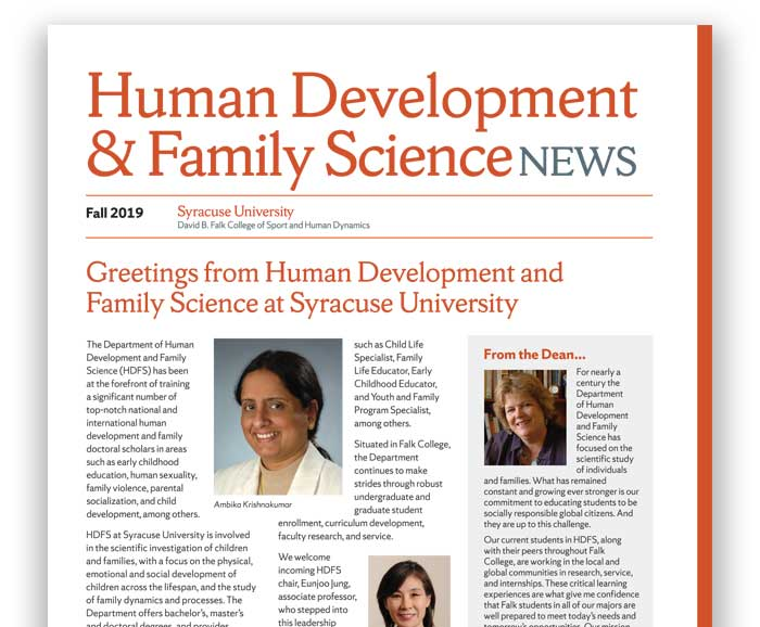 Portion of the cover of the 2019 HDFS newsletter