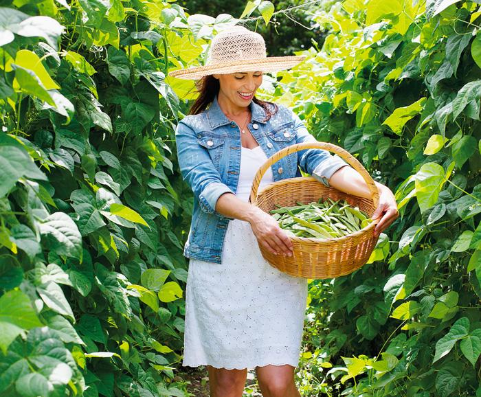 Celebrity Chef Julie Taboulie in garden