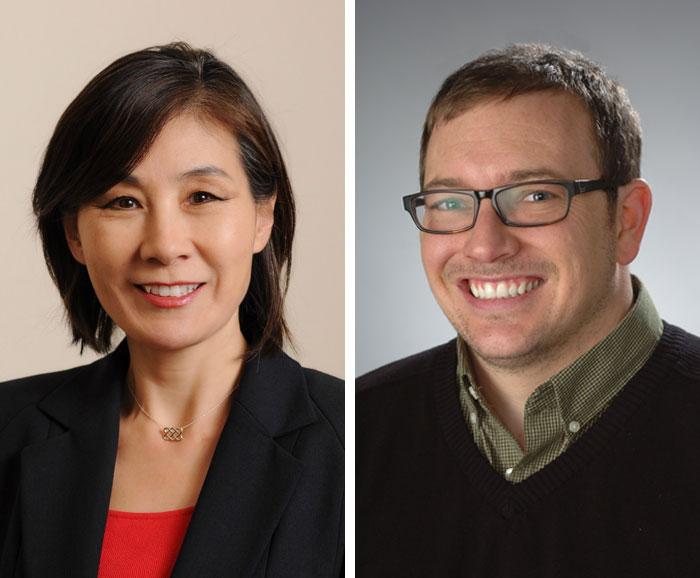 Portraits of Eunjoo Jung and EvanWeissman