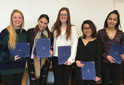 Human Development and Family Science students inducted into Kappa Omicron Nu Honor Society 2017