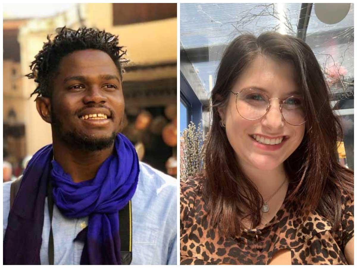 Portraits of Robert Nyumah and Danielle Lippman