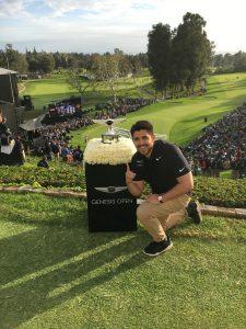 Marcos Luna during golf tournament