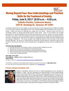 Moving Beyond Fear: New Understandings and Practical Skills for the Treatment of Anxiety @ Catholic Charities, Conference Room A | Syracuse | New York | United States