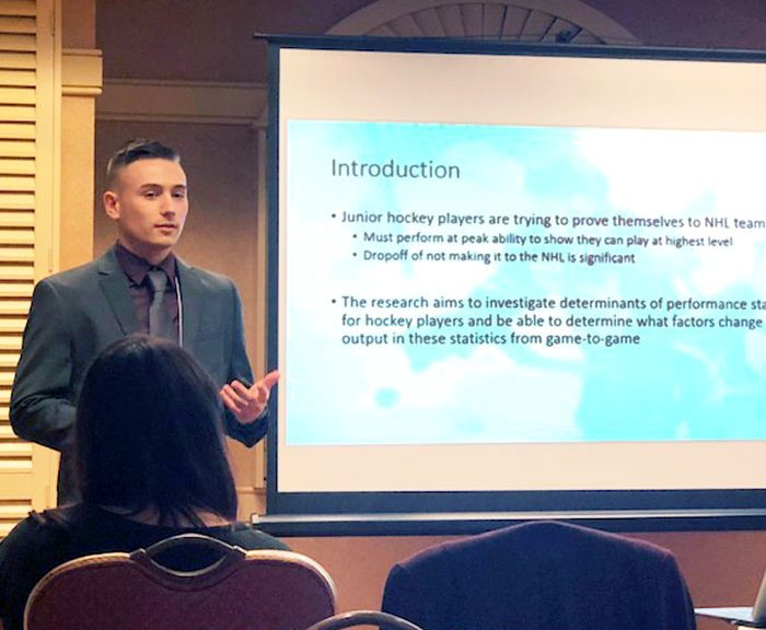 Nick Riccardi is presenting a power point at the A.E.F. Conference in Tampa, Florida