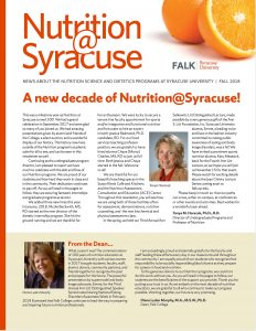 Cover of Nutrition@Syracuse Fall 2018