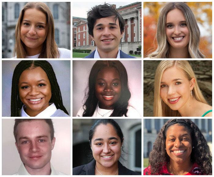 Portraits of 9 award winners