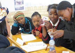 Students at school in Grahamstown, South Africa
