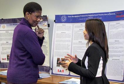 Seniors present public health poster symposium