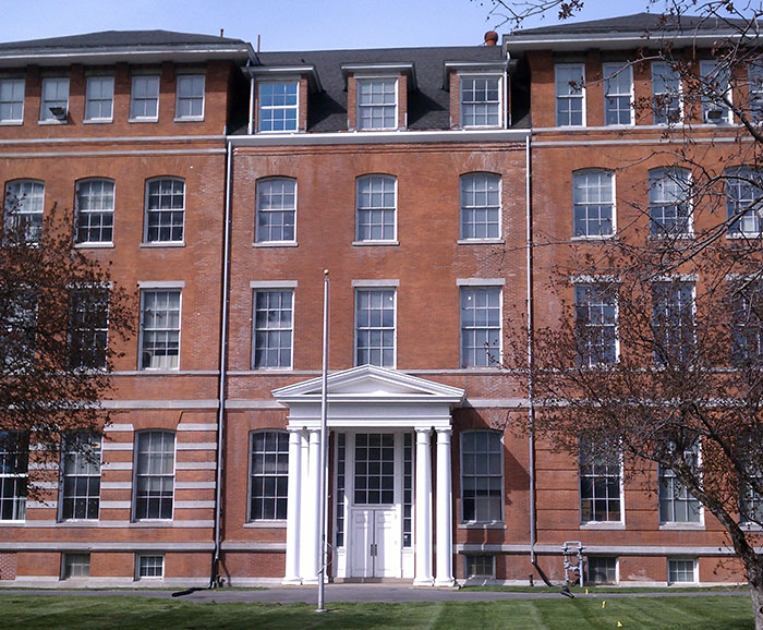 Front entrance to Peck Hall