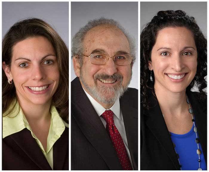 Three faculty portraits