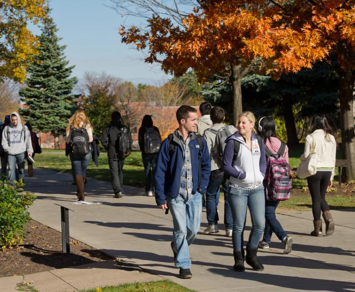 Fall Campus Students Walking