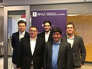 S.P.M. Students pose at NYU conference
