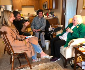"Sally Short sits in her home being interviewed for the documentary ""Sally Short: Long on Life."""