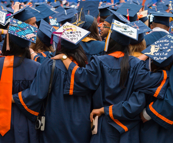 Syracuse University Students at Commencement