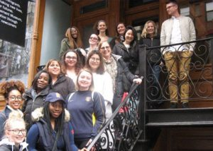 Students outside the Tenement Museum during the 2017 Mirken immersion trip.