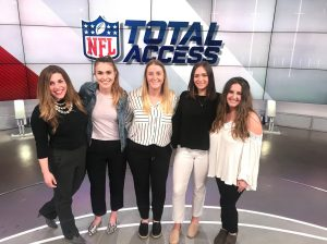 WISE members in NFL Total Access broadcasting studio