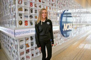 Jordan Rice at NCAA offices