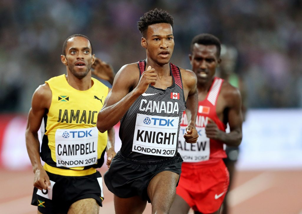 Justyn Knight races for Canada team